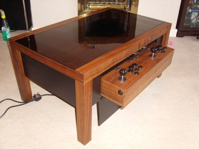 Gorgeous Arcade Coffee Table Finished For Sale Coffee Table Arcade Diy Arcade Cabinet Arcade Table