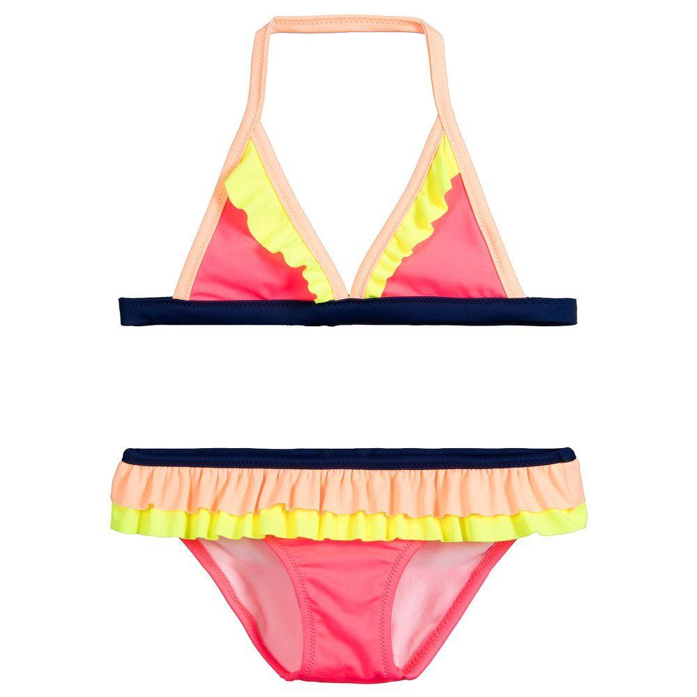 c7f233cdf7 Girls Pink Bikini (UPF50+) for Girl by Sunuva. Discover more beautiful  designer Swimwear for kids online
