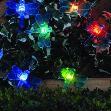 Solar Powered Outdoor Garden Patio Fluttering Dragonfly Lighting Lights New