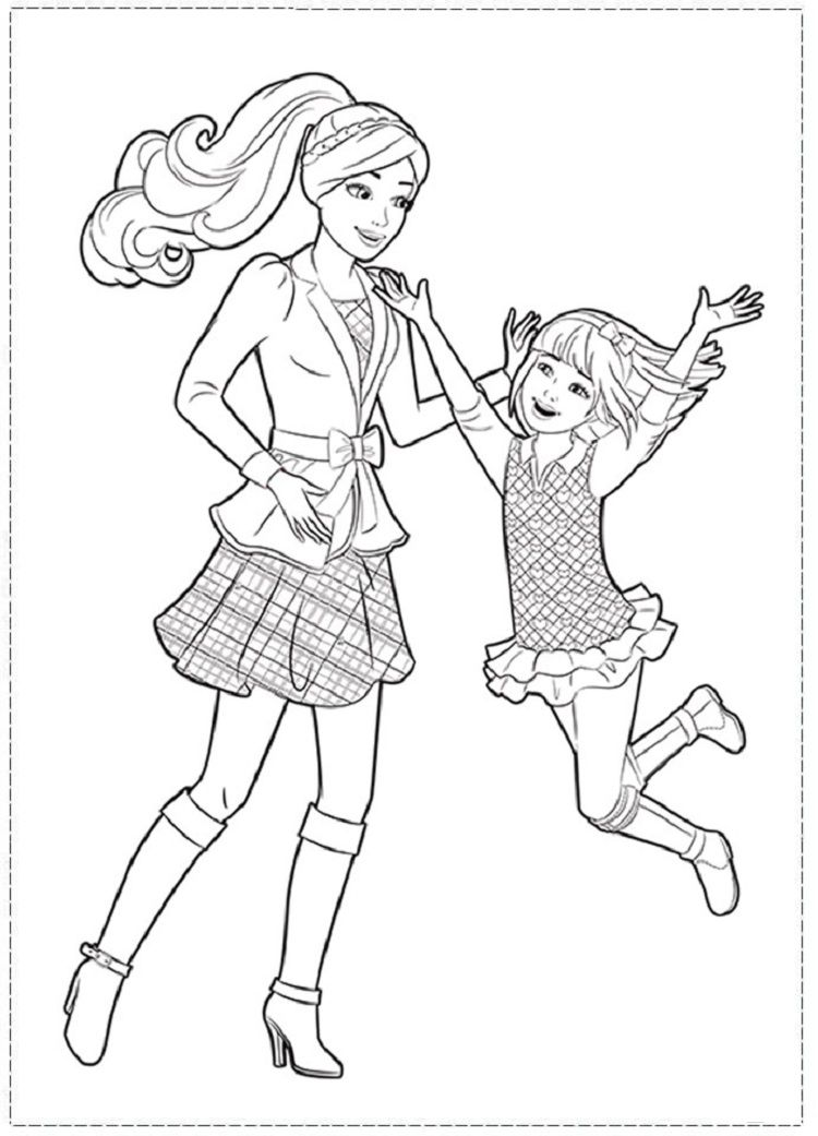 barbie sisters coloring pages