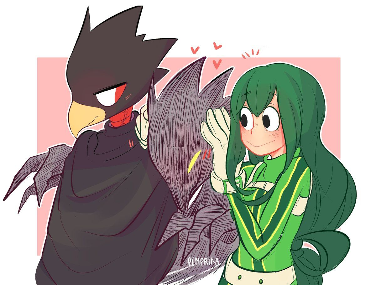 Tokoyami Fumikage Asui Tsuyu And Good Old Dark Shadow My