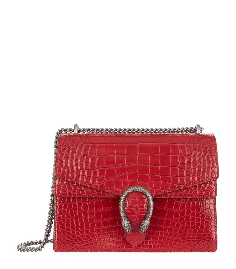 83f5569496ed Women  10% Exclusions Gucci Dionysus Croc Shoulder Bag