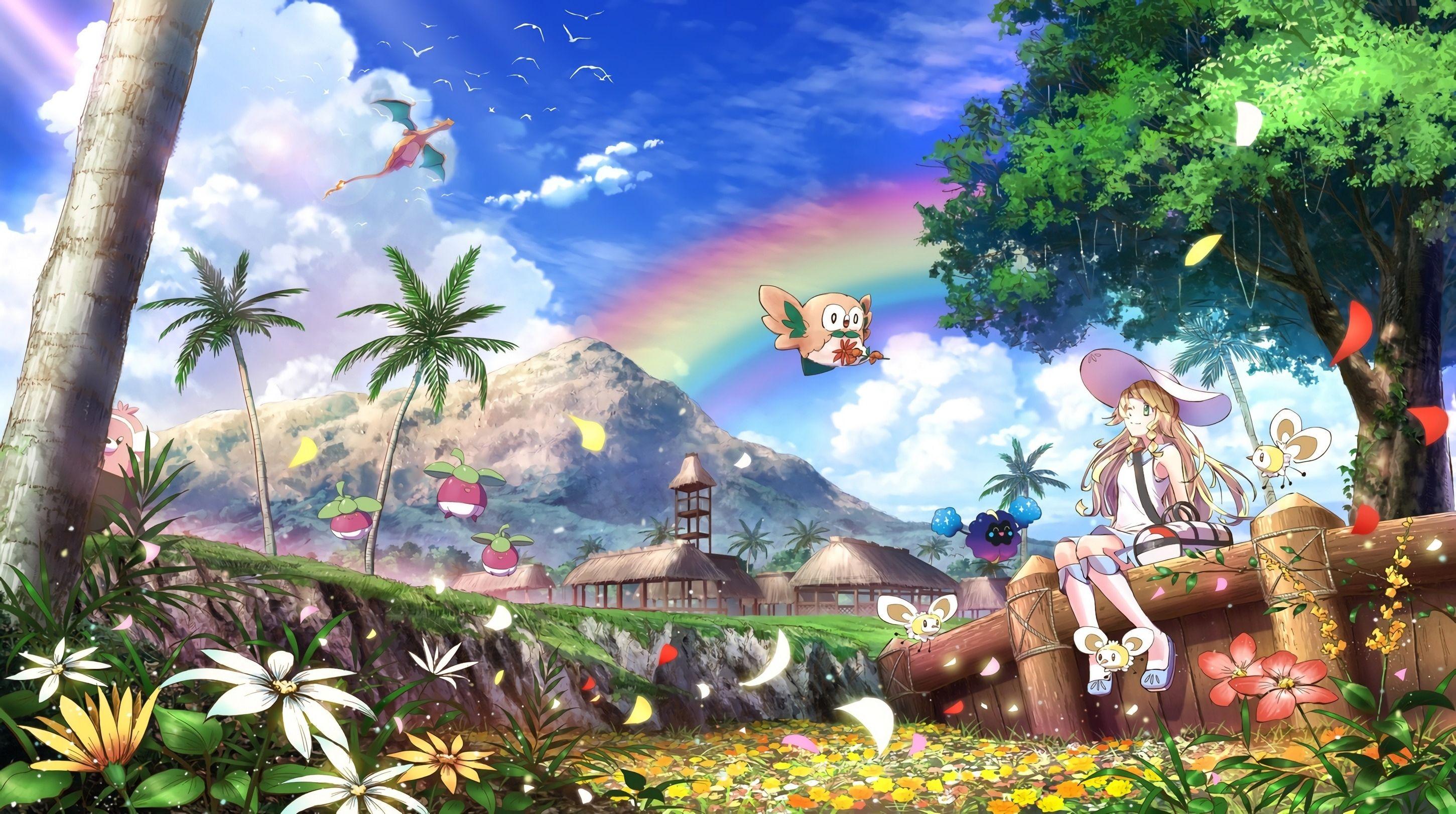 Resultado De Imagen Para Lillie Pokemon Wallpaper Pokemon Sun Anime Wallpaper Awesome Anime