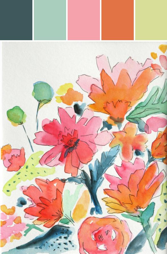 Modern Flowers Print III Designed By Hattan Home via Stylyze