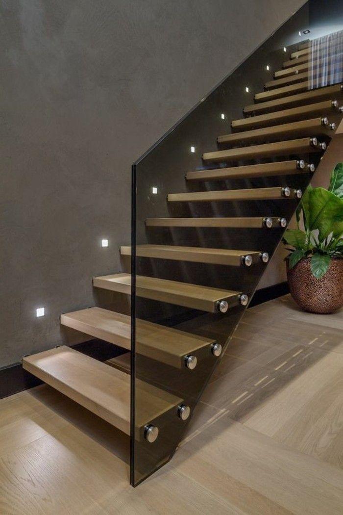 treppe mit glasgel nder f r schickes interieur gestaltung von treppen pinterest treppe. Black Bedroom Furniture Sets. Home Design Ideas