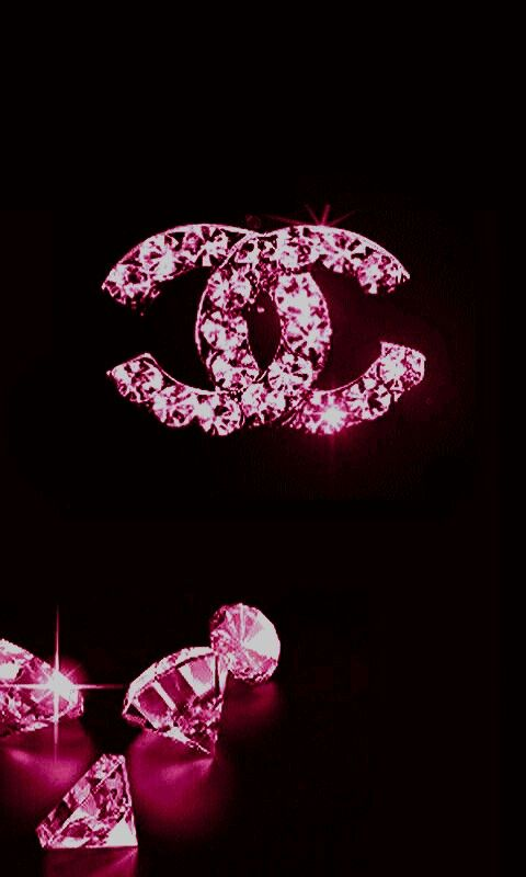 38c21cd006e5 Pink and Black chanel with diamonds   Coco Chanel   Chanel ...