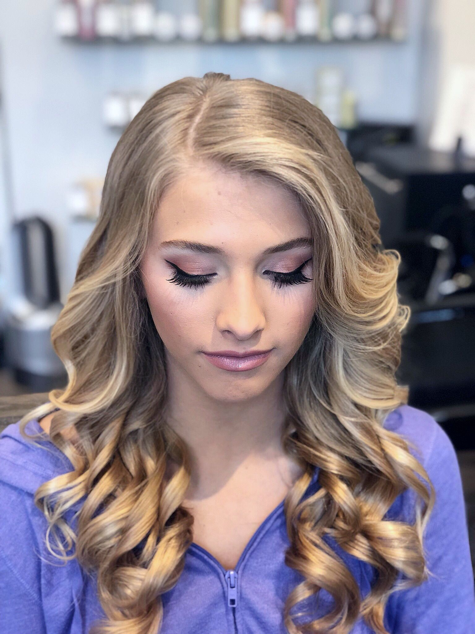 Prom hair and makeup from refinedbeautyboutique