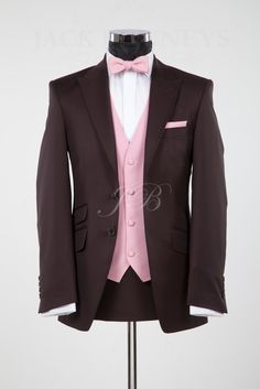 b212f870 brown and pink mens tuxedos - Google Search | brown/pink wedding ...