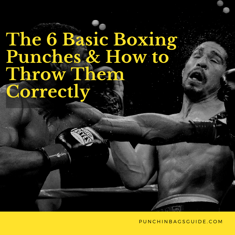 The 6 Basic Boxing Punches & How to Throw Them Correctly http://punchingbagsguide.com/basic-boxing-punches-guide/ #boxing #punches