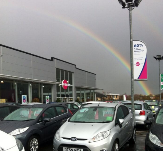 Sales Advisor, Lucy Jackson, spotted this beautiful rainbow over our Wakefield showroom. Whose coming to look for the pot of gold?