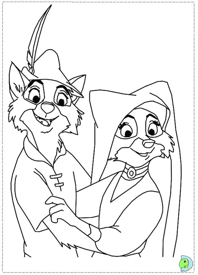 Great Disney Robin Hood Coloring Pages For Kids