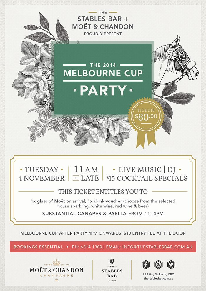 melbourne cup party - Google Search Melbourne Cup in the Office - event planning certificate