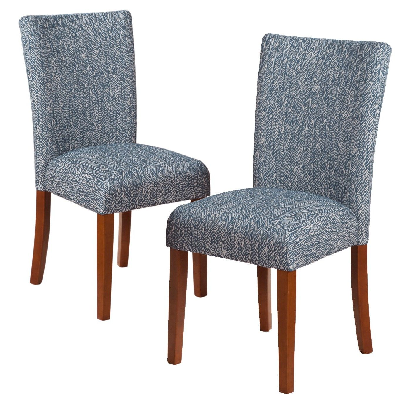 Set Of 2 Parsons Pattern Dining Chair