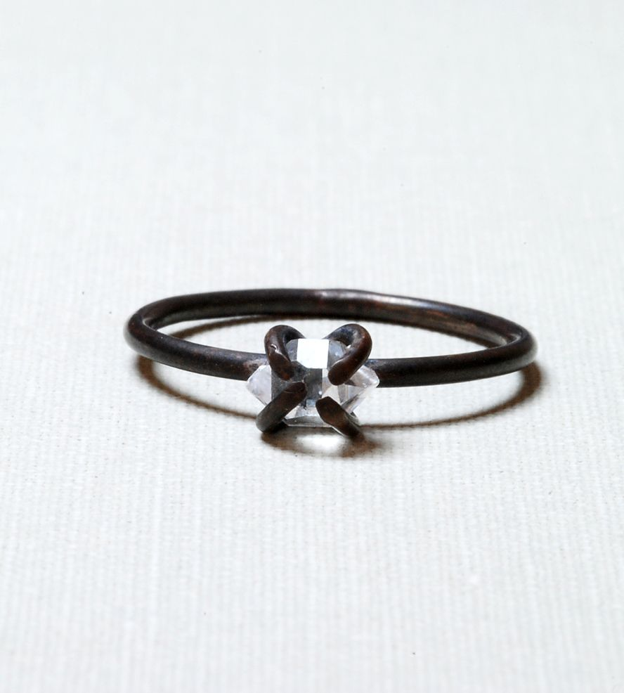 Oxidized Silver Herkimer Diamond Ring | Jewelry Rings | Gunnard Jewelry | Scoutmob Shoppe | Product Detail