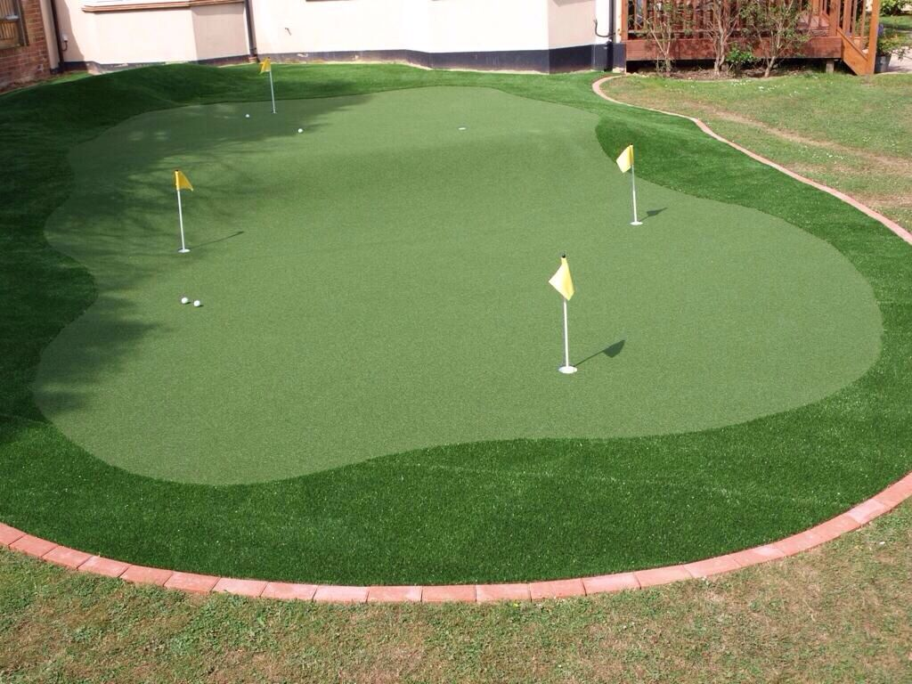 putting green golf pinterest backyard decking and house