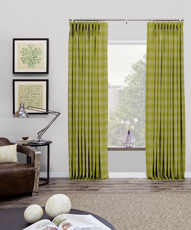 Achieving A Mid Century Modern Look The Shade Store Drapes Curtains Pinch Pleat Draperies Pleated Curtains