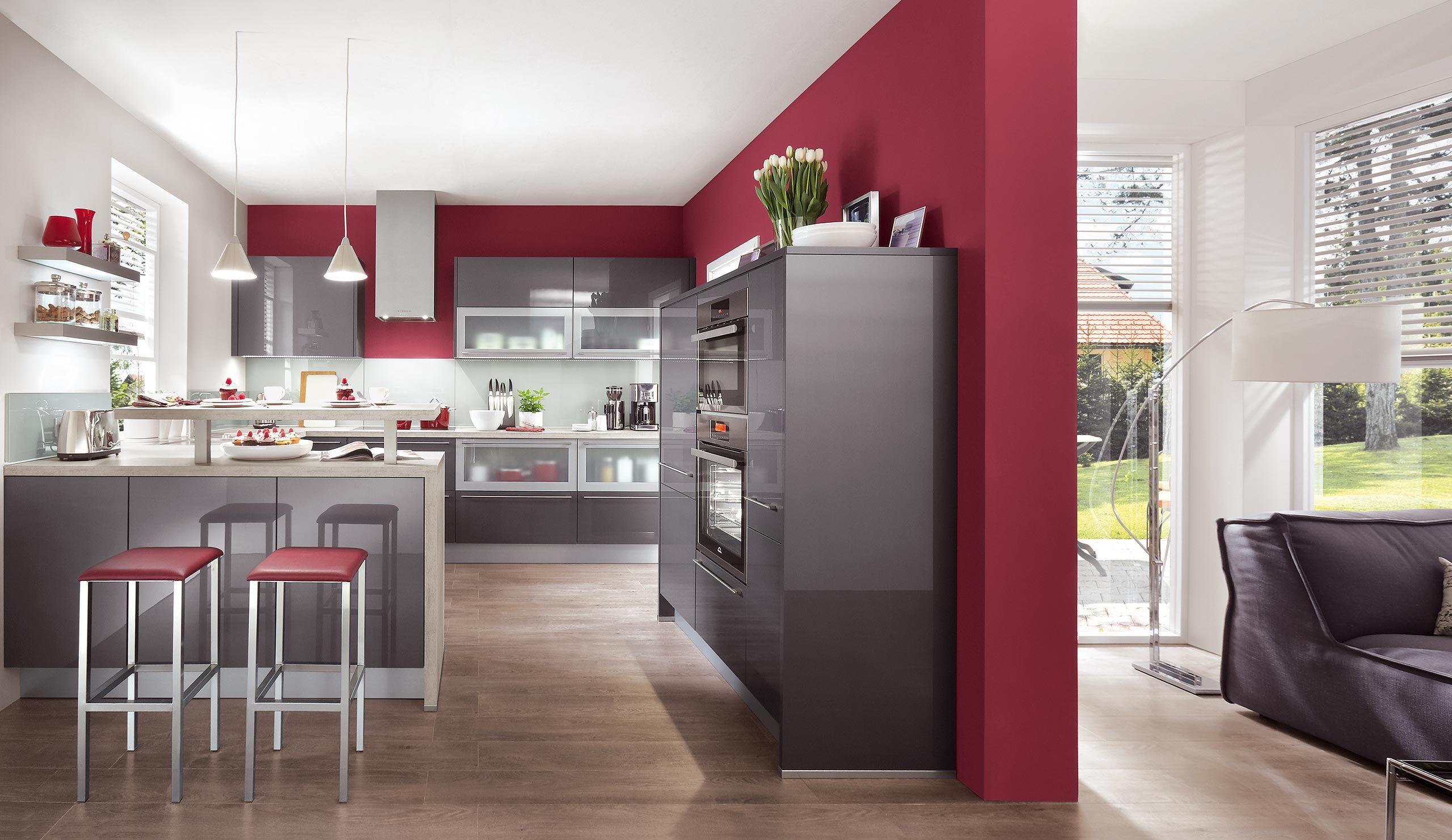 Einbauküche Norina 7757 Anthrazit Hochglanz | Hausbau in 2018 ...