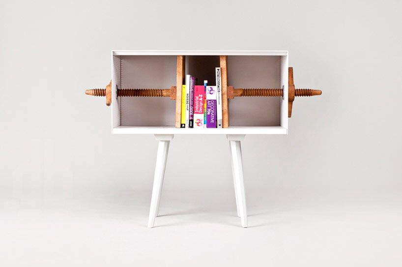 mejdstudio: twist me! bookcase at flowers for slovakia with vitra - designboom | architecture & design magazine