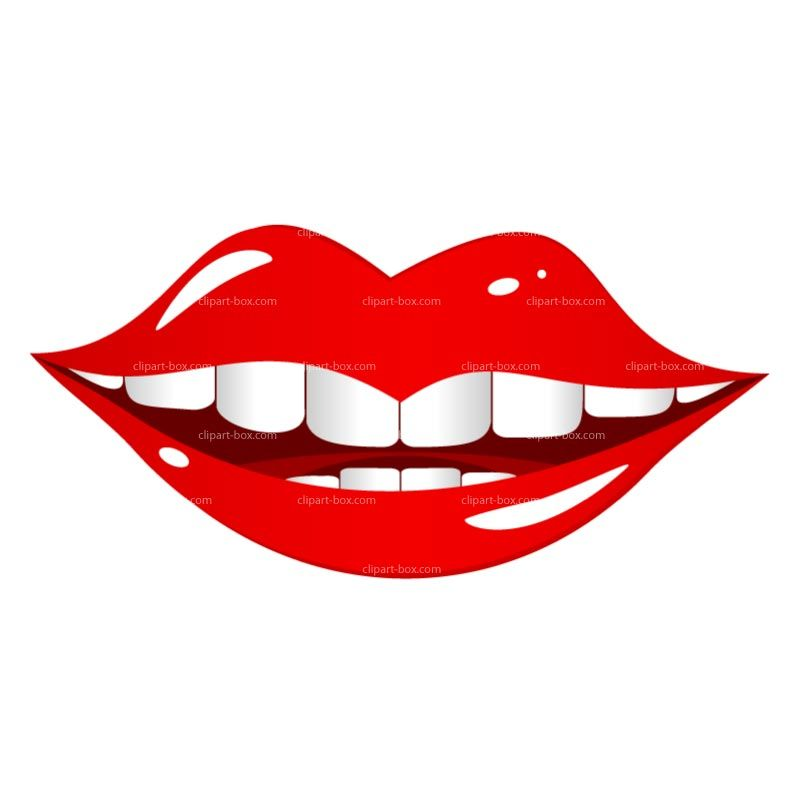 Lip Clip Art Images Clipart Smiling Mouth Royalty Free Vector