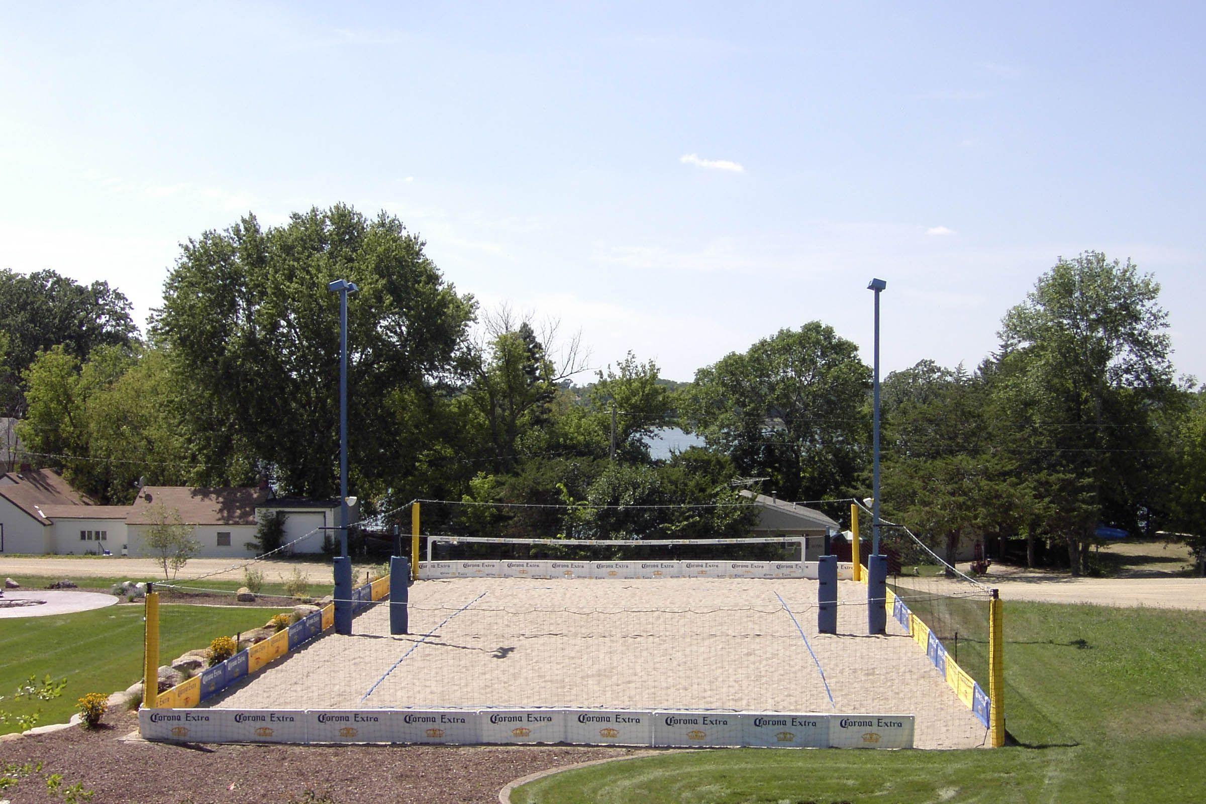 how to construct a volleyball court backyard bliss pinterest