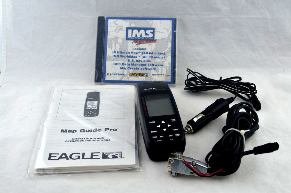 Eagle Map Guide Pro GPS Software Geocaching Handheld GPS Unit TESTED
