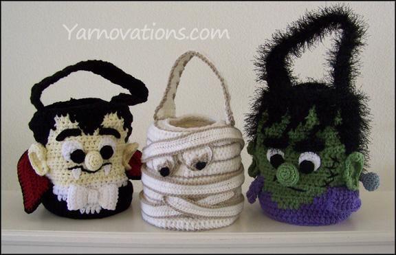 Trick or Treat Bags for Halloween | Pinterest | Gehäkelte taschen ...