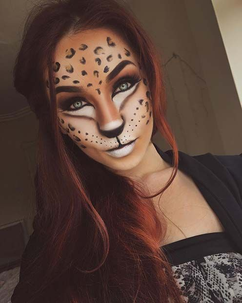 leopard makeup for best halloween makeup ideas