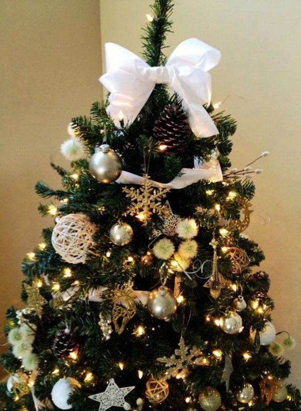 2013 Christmas Tree Topper, White Bow Christmas Tree Topper for ...
