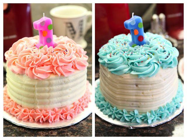 Boy And Girl Twins 1st Birthday Cake Birthday