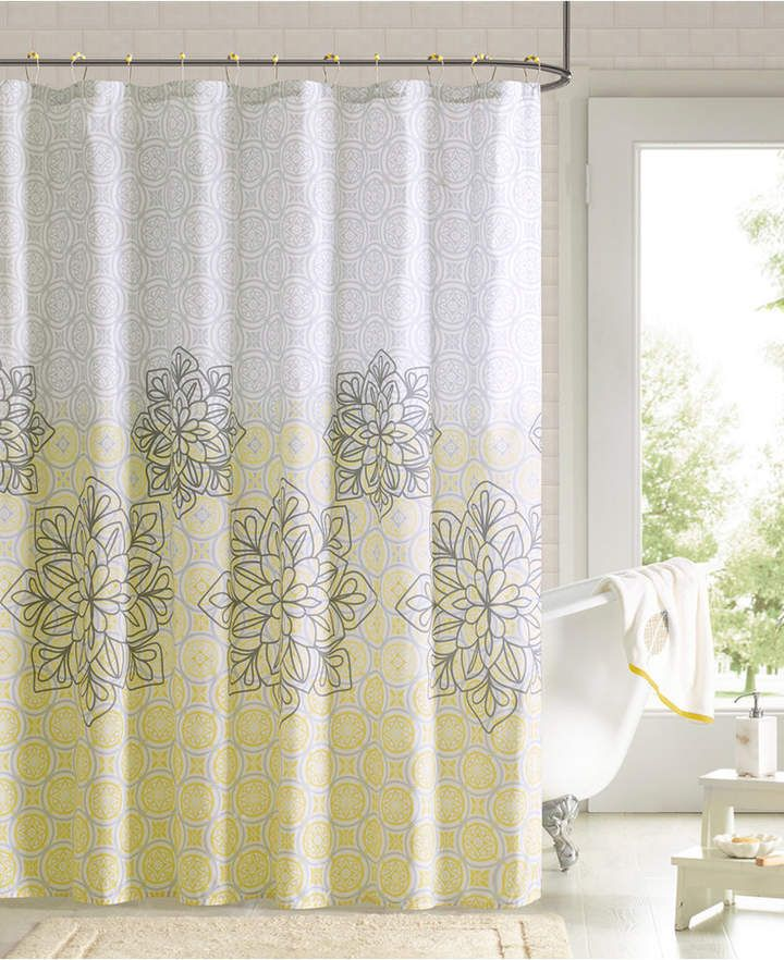 Jla Home Jessica 72 X 72 Printed Shower Curtain And Hook Set