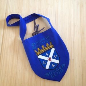 Dunedin Stirling Soccer Club upcycled jersey purse by #bohoeco