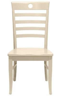 Nevis Dining Chair in Ivory | Maine Cottage #colorfulfurniture