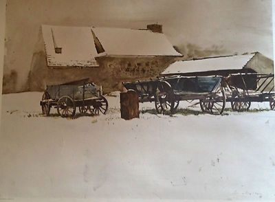 Andrew Wyeth Rural Holiday Print