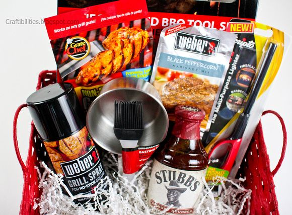 DIY Father's Day BBQ gift basket idea - Cookout - Grill stuff for ...