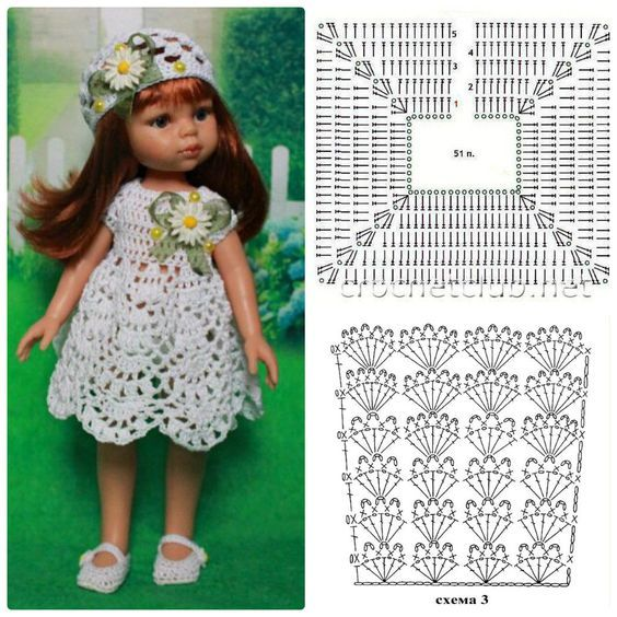 Vestido muñeca. Doll dress #dolldresspatterns