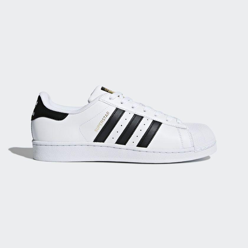 SUPER ORIGINALS ADIDAS Superstar C77124 Herren Turnschuhe Sneaker Weiß White
