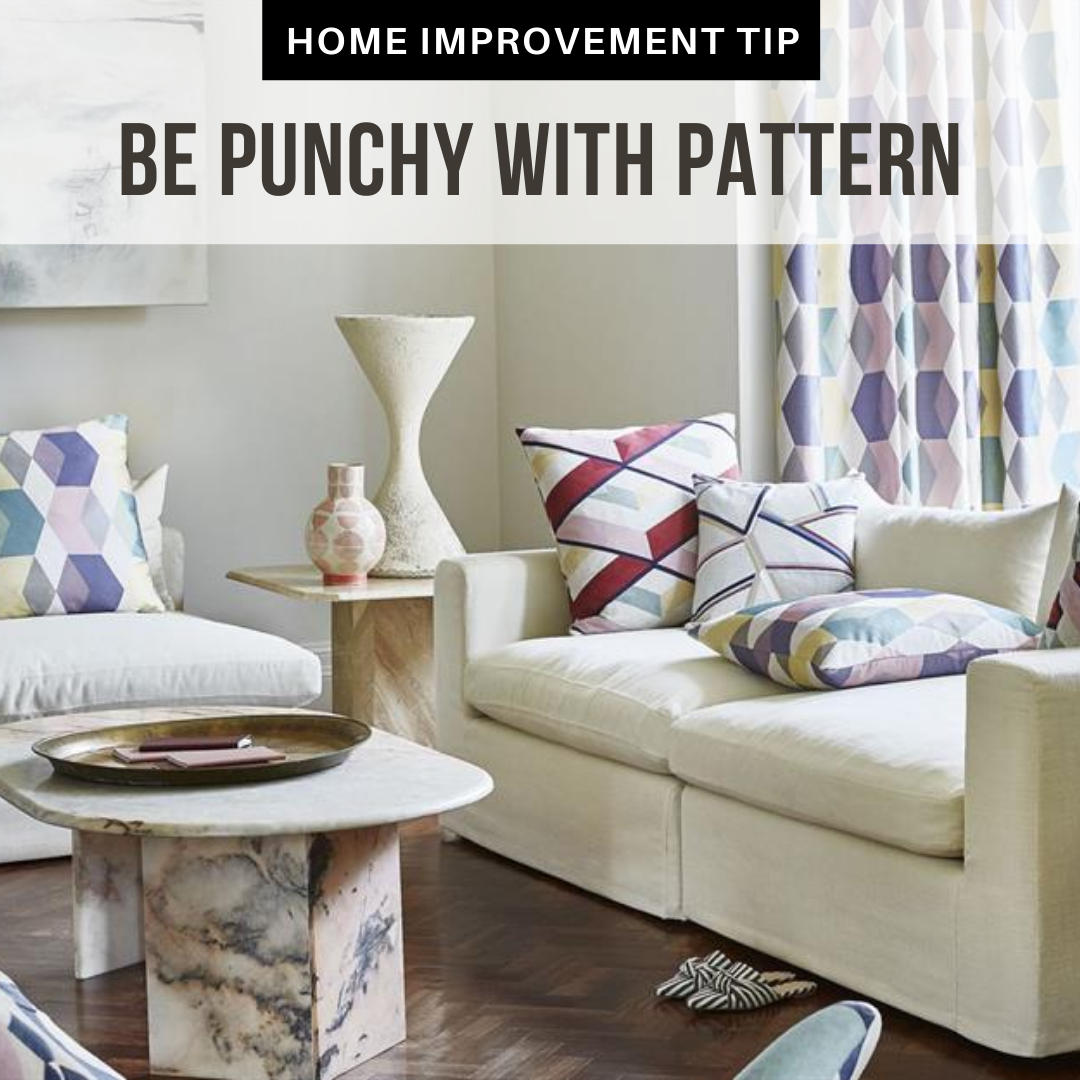 Patterns can make or break the design of your room. To avoid a chaotic look, choose the same patterns of different scales, or choose different patterns of the same color. #TheStephensGroup #Realtor #EdwardStephens #Sold #NewHome #Home #HomeForSale #RingTheBell #NewListing #Broker #HouseHunting #MillionDollarListing #HomesForSale #ForSale #KansasCity #KCMO #Instakc #igkansascity #igkc #luxury #chiefs #Kansas #Missouri #ChiefsKingdom #MadeInKC #ChiefsNation #ReppinKC #KCRoyals#HousesofInstagram