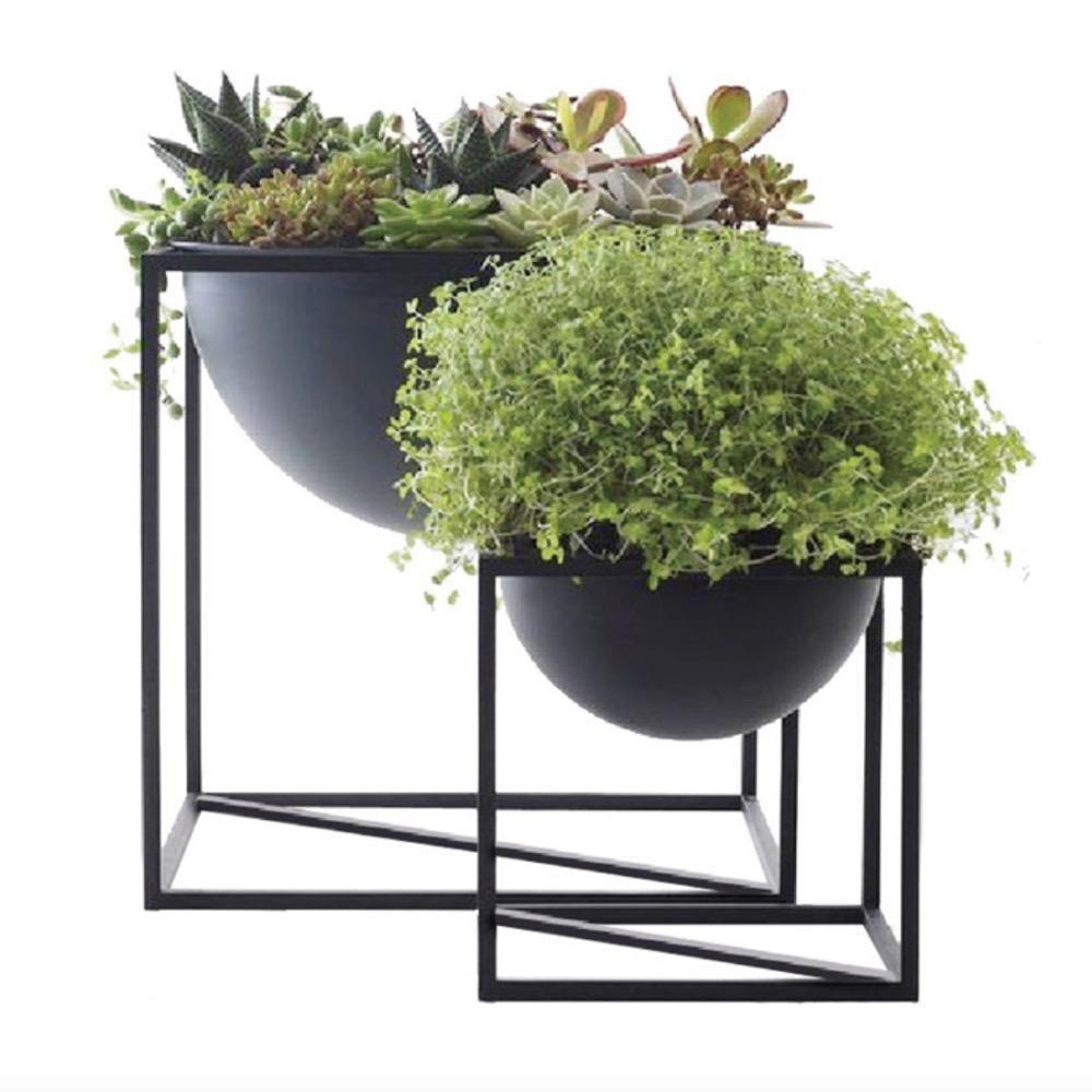 Aluminum Alloy Square Flower Plant Pot