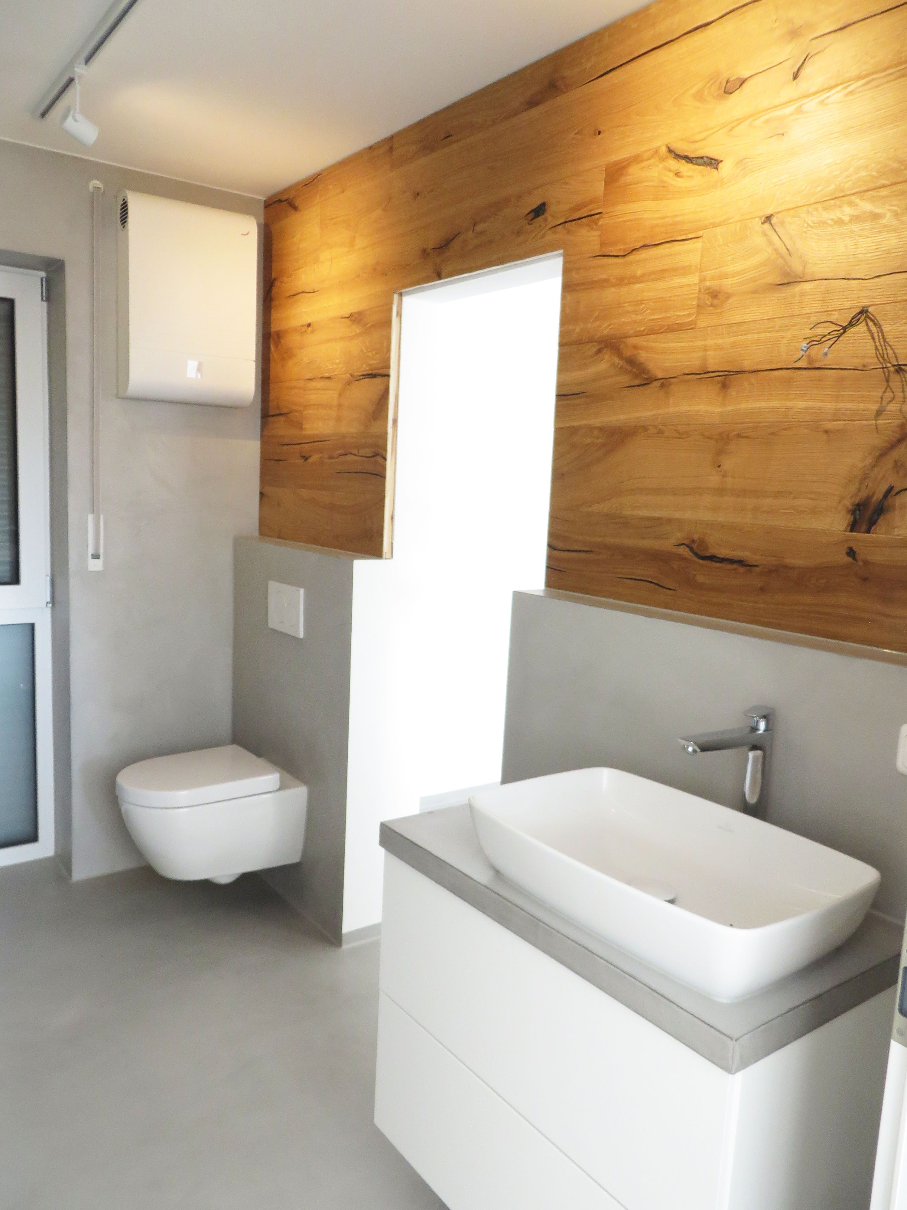 Bad Beton Und Holz By Fugenlos Modern De Fugenloses Bad Bad Grundriss Neues Badezimmer