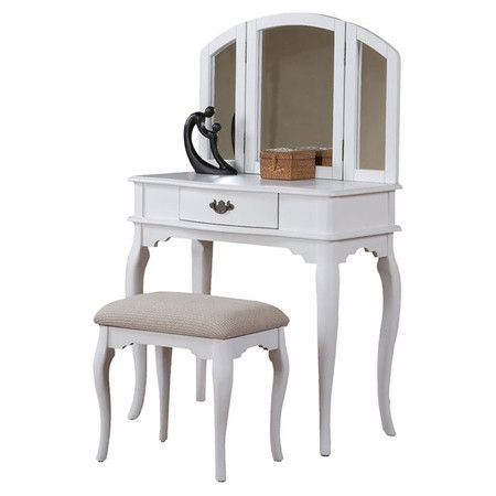 I pinned this 2 Piece Jaden Vanity Set from the Favorites Under $300 - Bedroom Vanity Table