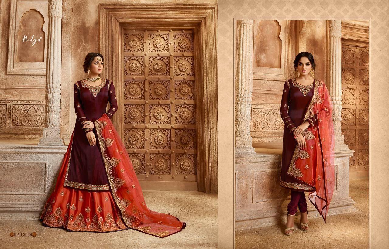 3d0735652e LT NITYA VOL 130 DESIGNER AND WEDDING WEAR BRIDAL STYLE DRESS CATALOG  MANUFACTURER WHOLESALER AND EXPORTER OF INDIAN ETHNIC WEAR IN INDIA.+ |  Sagar Impex
