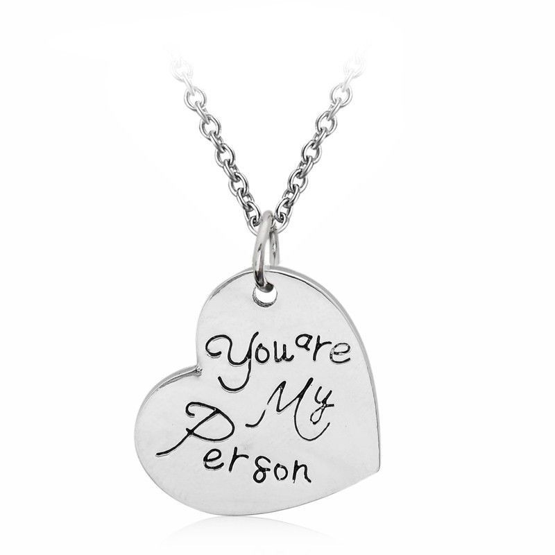 Grey\'s Anatomy You are My Person Heart Necklace   Pinterest ...