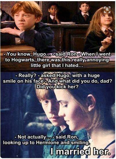 Ron And Hermionie Harry Potter Jokes Harry Potter Memes Harry Potter Funny