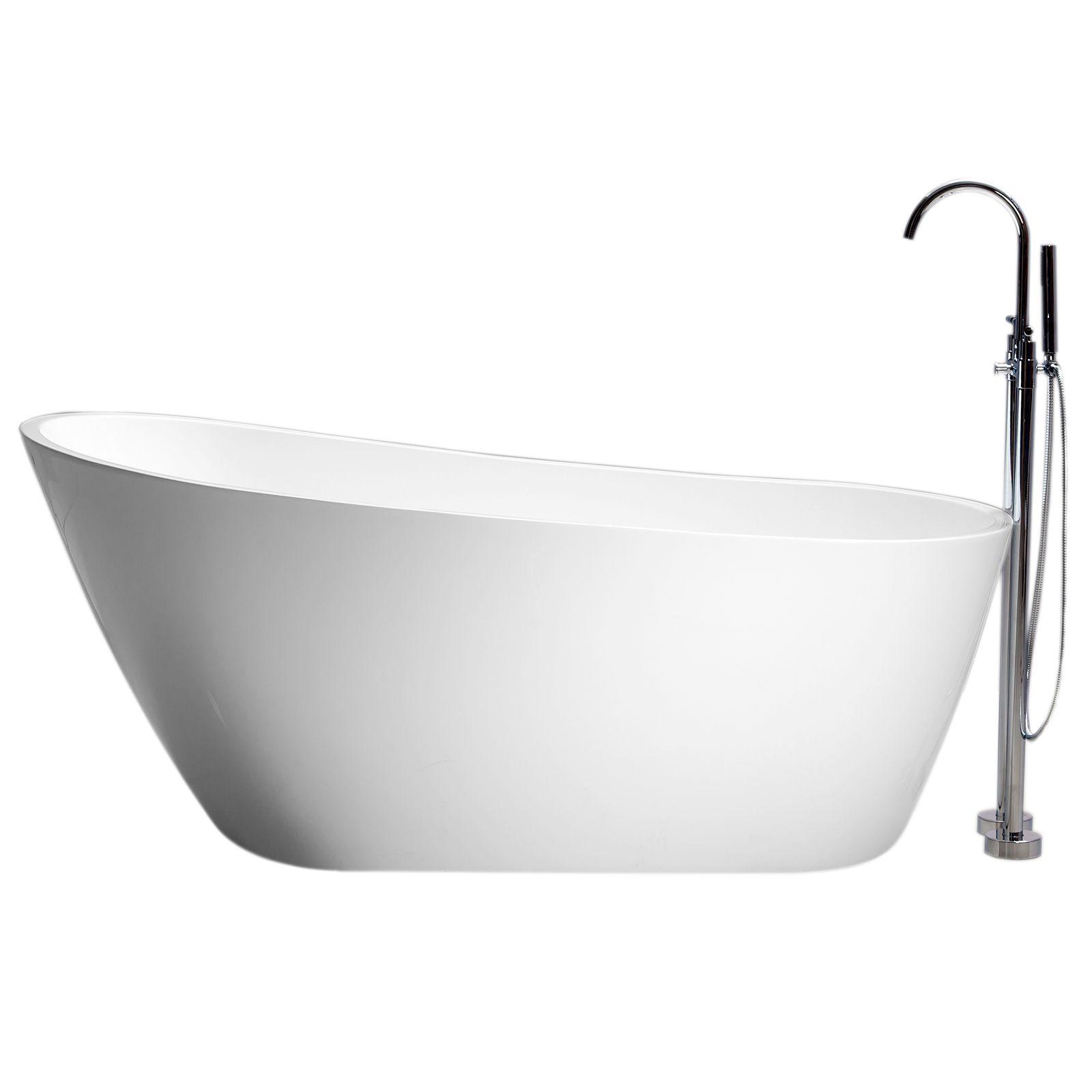 Vasca da bagno freestanding in acrilico 170x80x72 ovale irregolare ...