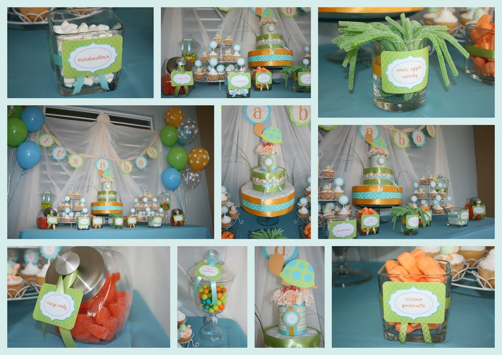 Turtle Baby Shower Theme Ideas   This party has been a great inspiration to  launch my little business .