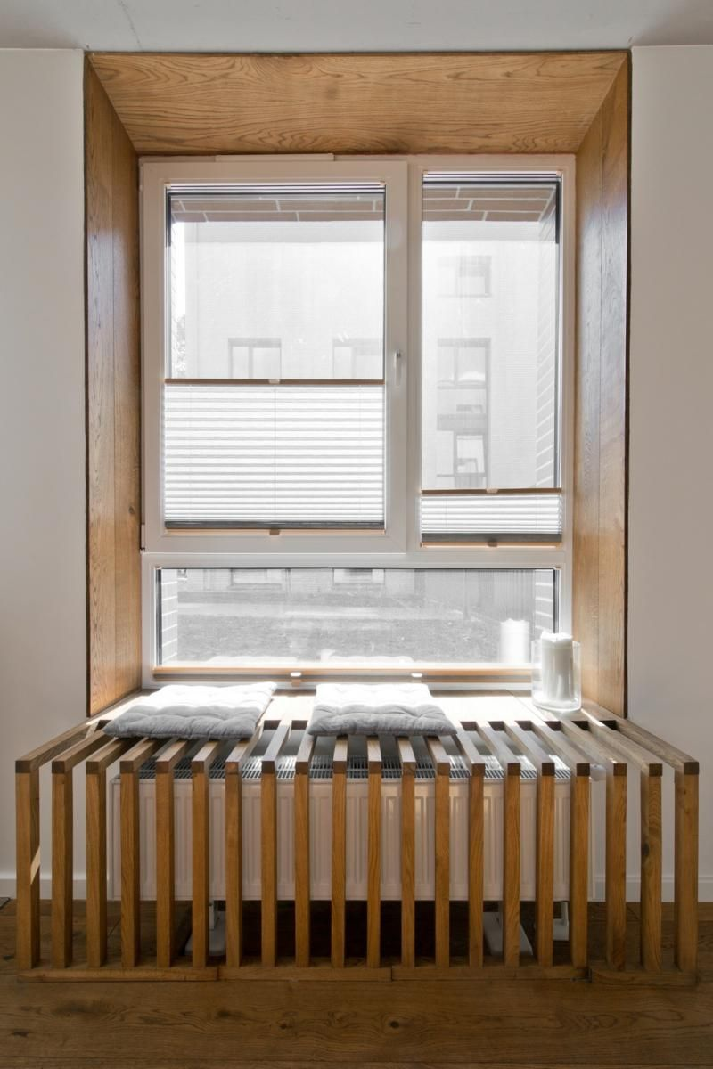 Mobilier Scandinave En Gris Blanc Et Bois D Un Loft Nordique Cache Radiateur Design Amenagement Maison Mobilier Scandinave