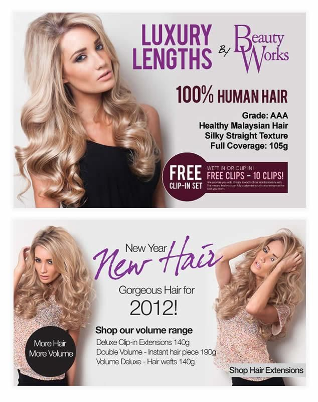 Banner Design For Beauty Works Hair Poster Design Beauty Works Website Banner Design