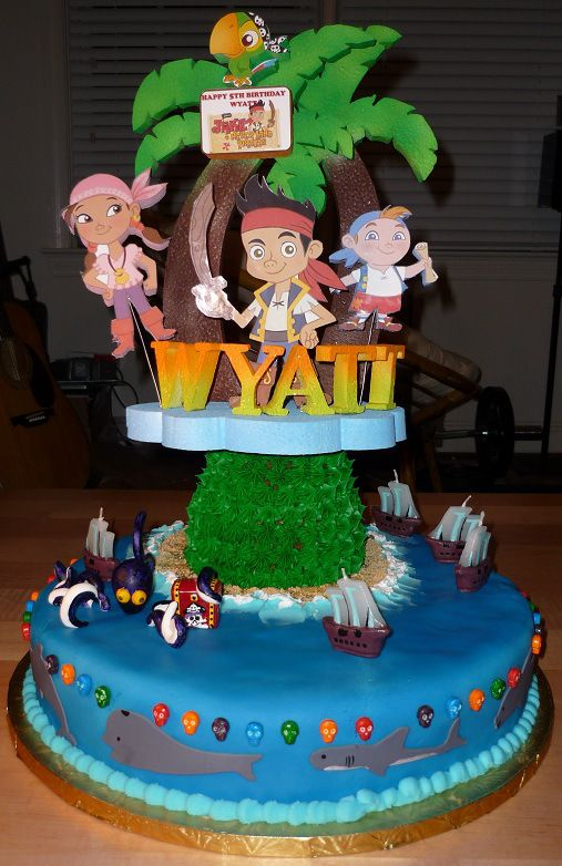 Pleasant Jake And The Neverland Pirates Cake Pirate Cake Pirate Birthday Personalised Birthday Cards Fashionlily Jamesorg