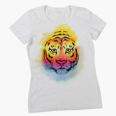 Wild Watercolor Tiger T Shirt Watercolor Tiger Tiger T Shirt