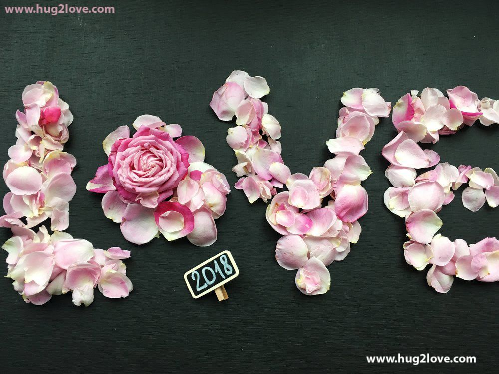 Wonderful Rose Flowers Love New Year 2018 Image